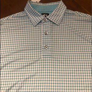 FootJoy men's plaid golf shirt